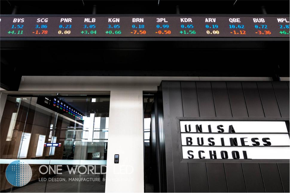 Led Stock Ticker One World Led